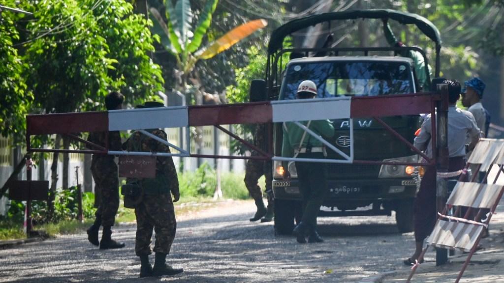 Myanmar Military barricades areas where Aung San Suu Kyi was detained