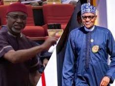 Senator Enyinnaya Abaribe and President Buhari