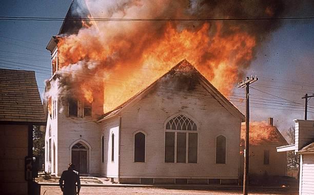 1950's church fire