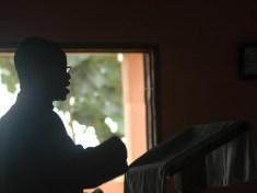 A preacher in church