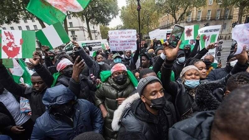 Buhari Must Go Protesters In London