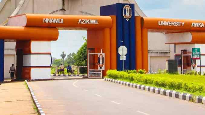 NNAMDI AZIKIWE UNIVERSITY AWKA, ANAMBRA STATE