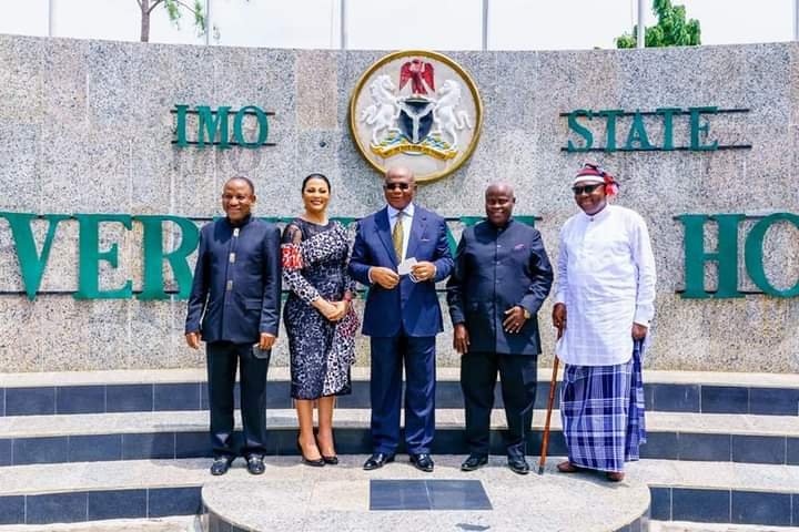 GOV HOPE UZODINMA INAUGURATES FOUR NEW COMMISSIONERS - 9NEWS NIGERIA (OWEERI)
