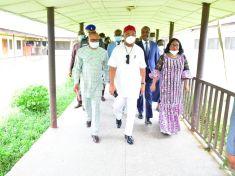 Governor Hope Uzodinma at the Imo State University Teaching Hospital