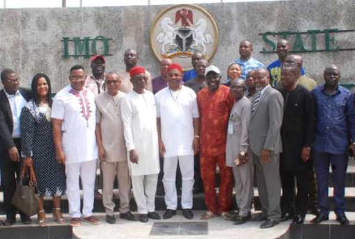 Governor Uzodinma and His Executive members