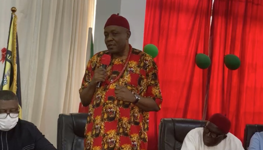 Happening Now- Dr Ifedi Okwenna picks Anambra State Gubernatorial Candidacy Form at PDP office Abuja - 9News Nigeria