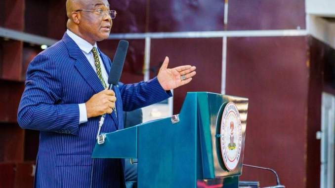 GOVERNOR HOPE UZODINMA ADDRESSING THE NEWLY SWORN IN COMMISSIONERS - 9NEWS NIGERIA