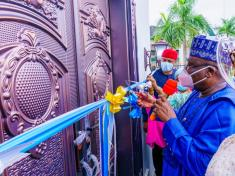SENATE PRESIDENT LAWAN COMMISSIONS IMO BANQUET HALL, COMMENDS IMO GOVERNOR - 9NEWS NIGERIA