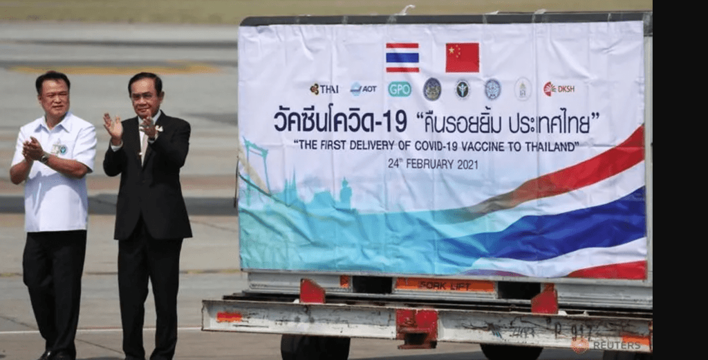 Thailand receives its first coronavirus vaccines