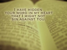 Psalm 119:11 - Thy Word I Have Treasured in My Heart