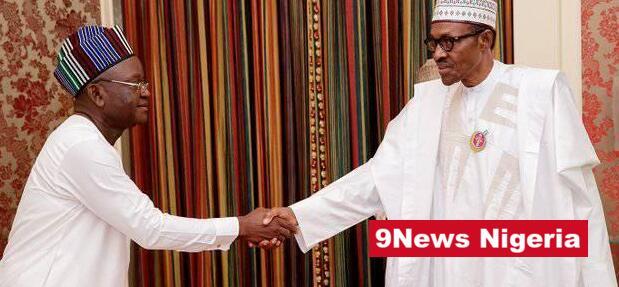 Benue State Governor, Samuel Ioraer Ortom and the Nigerian President, Muhammadu Buhari - 9News Nigeria