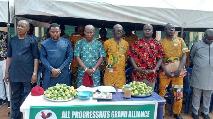 Hon Nwokoye with AwkaNorth APGA Leadership - 9News Nigeria
