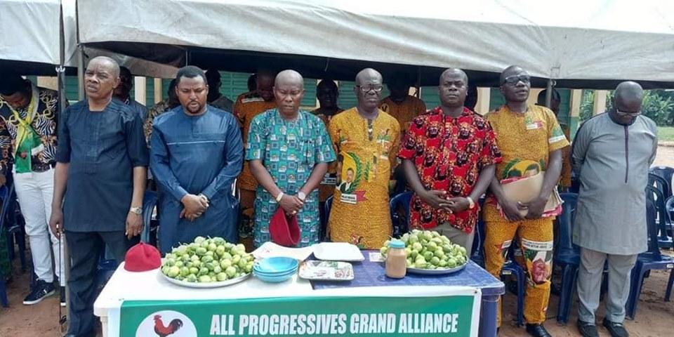 Hon Nwokoye with AwkaNorth APGA Leadership - 9News Nigeria
