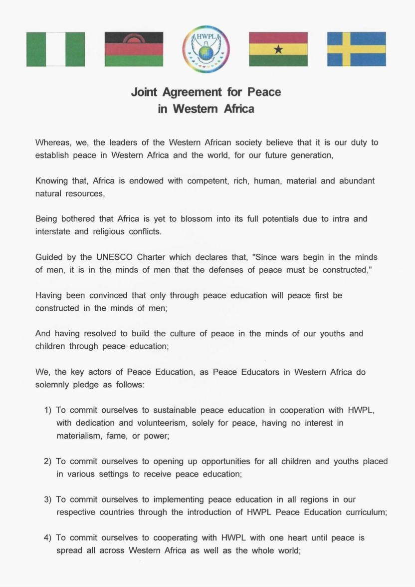ent for Peace in Western Africa - Page 1 - 9News Nigeria