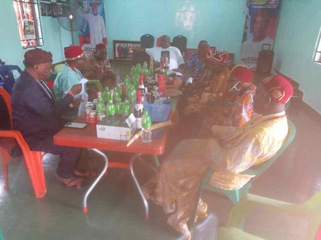 OWERRI -WEST MONARCHS PAY SOLIDARITY VISIT TO MAJORITY LEADER - 9NEWS NIGERIA