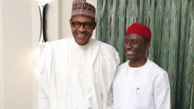President Buhari and Hon Uchechukwu Ogah
