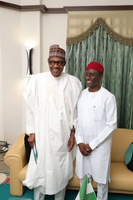 President Buhari and Hon Uchechukwu S. Ogah