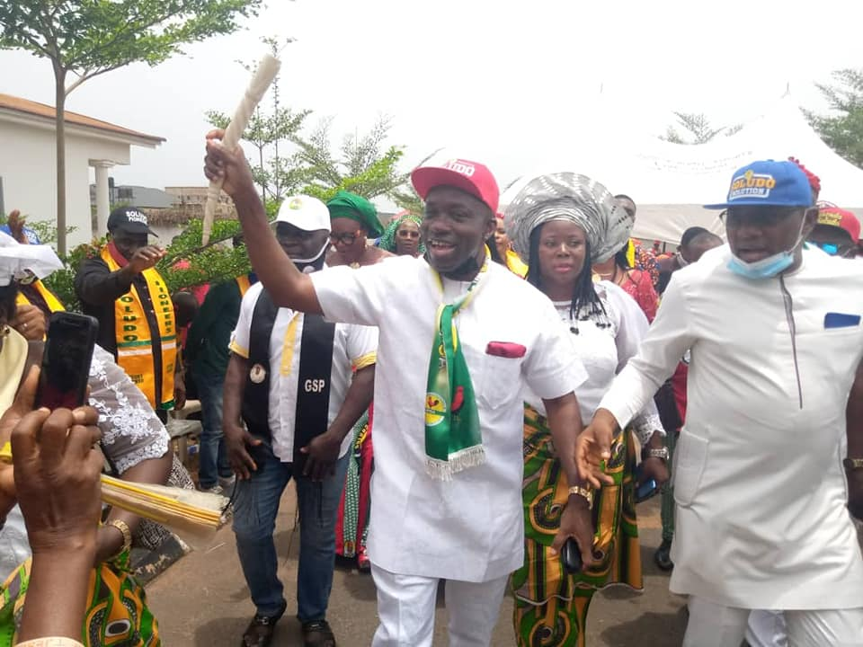 Prof Charles Chukwuma Soludo in a political campaign in Anambra state