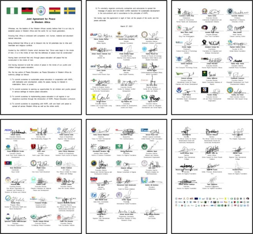 The Joint Agreement for Peace in Western Africa
