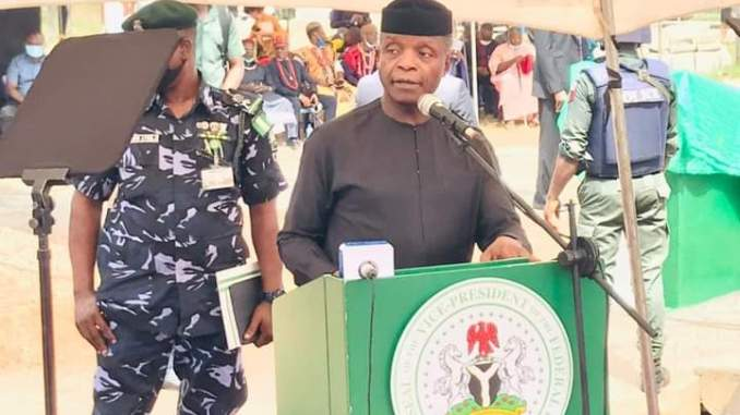 VICE PRESIDENT OSIBANJO ARRIVES IMO FOR CONTINUED ROAD COMMISIONING (PHOTOS) - 9NEWS NIGERIA