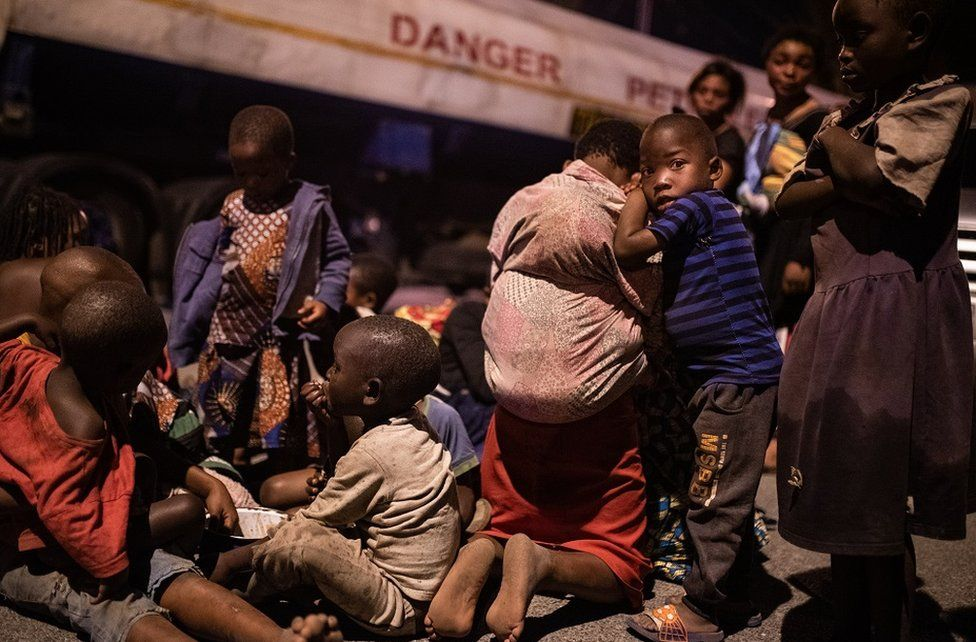 DR Congo's Goma volcano- Desperate search for children missing after eruption 1