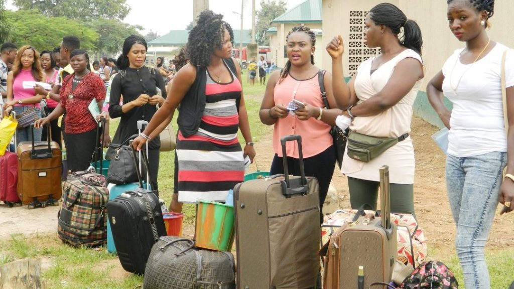 Nigerian Youth Corpers Waiting To Leave Deployment Camp