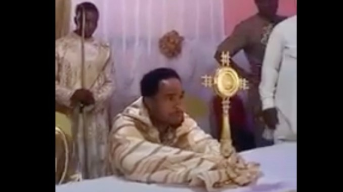 Odumeje turns himself into Rev. Father (Video)