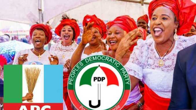 APC Party and PDP Party supporters