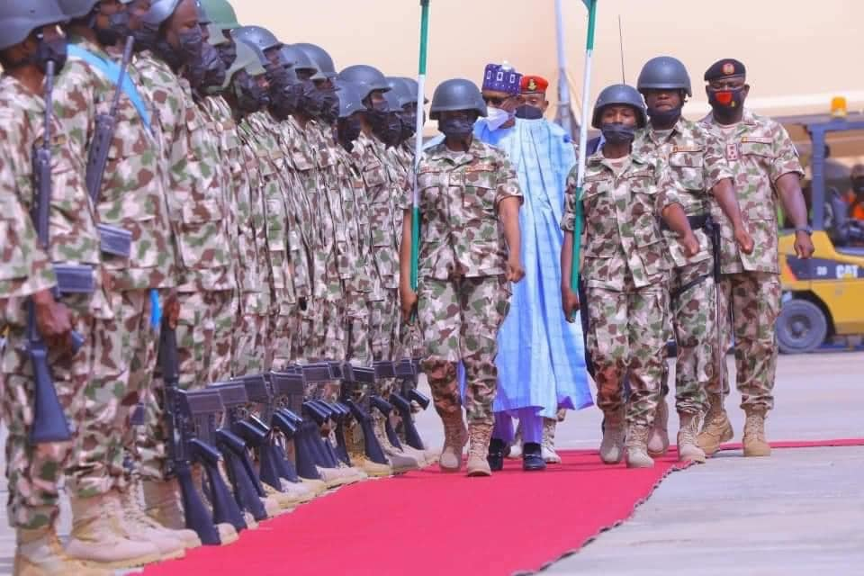 Buhari shows gratitude, charges the military to give no breathing space to terrorists and criminals