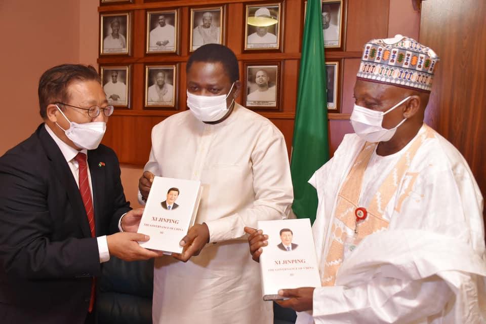 Chinese Diplomat with Femi Adesina and Garba Shehu