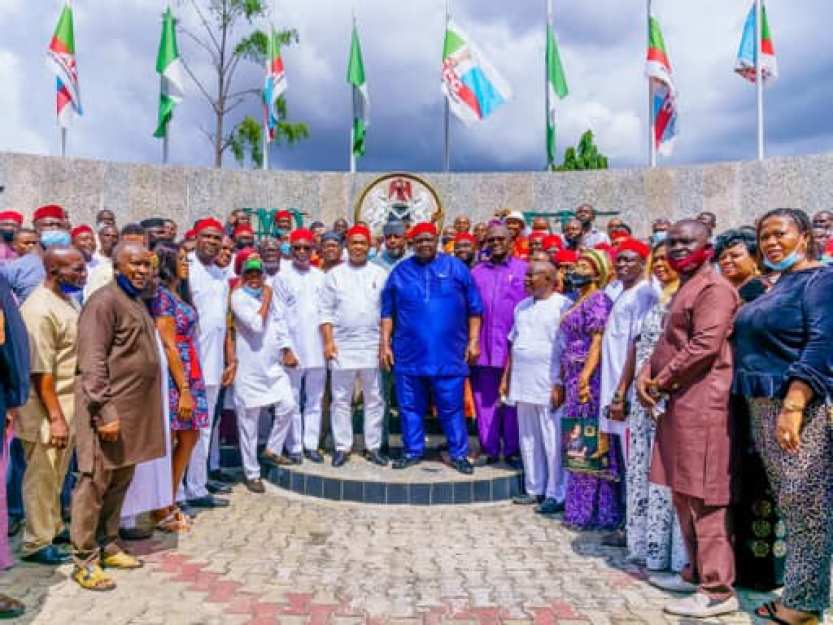 GOVERNOR HOPE UZODIMMA RECEIVES IKEDURU STAKEHOLDERS IN AUDIENCE