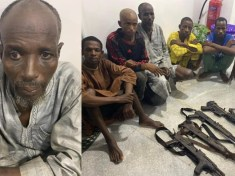 How 60-year-old Umaru Mohammed and gangs were arrested with AK47 Rifles and Ammunition Along Highway