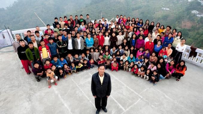 Man Who heads the world's 'largest family' dies in India, leaving behind 39 wives and 94 children