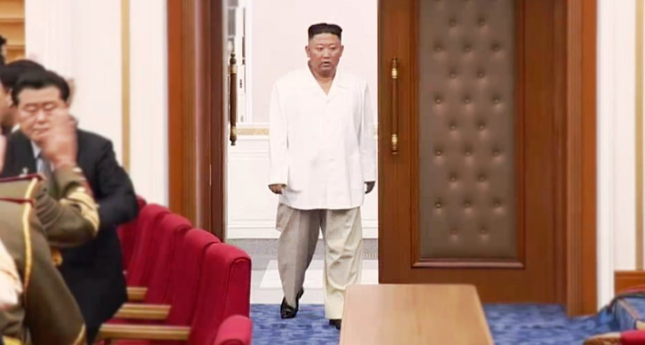 North Korean Leader Kim Jong Un looking emaciated