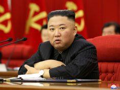 FILE PHOTO: North Korean leader Kim speaks during WPK meeting in Pyongyang