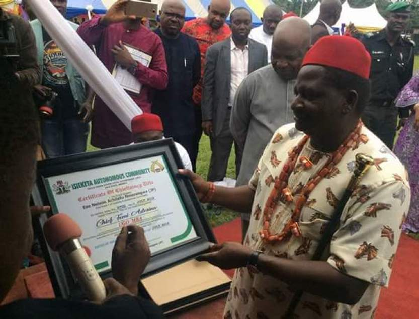 Femi Adesina receives second Igbo title in Abia State