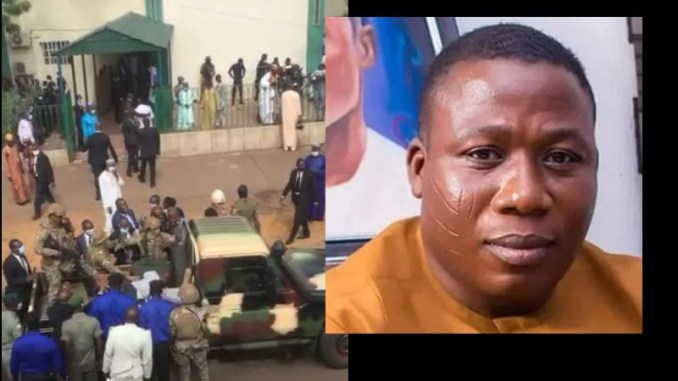 Video Emerges of How Sunday Igboho was arrested and manhandled in the Benin Republic