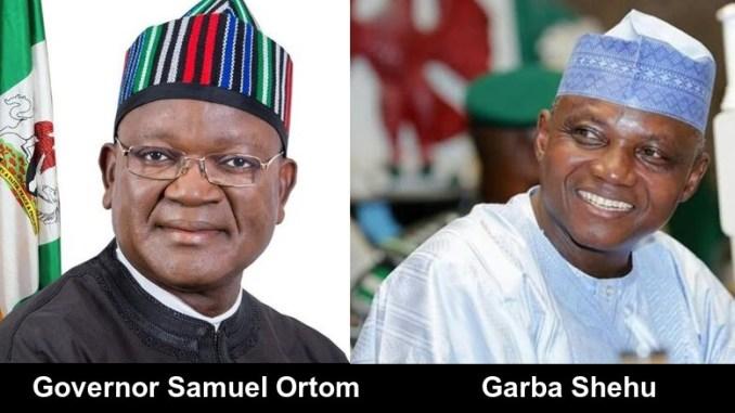 Benue State Governor, Samuel Ortom and Senior Special Assistant to President Buhari, Garba Shehu
