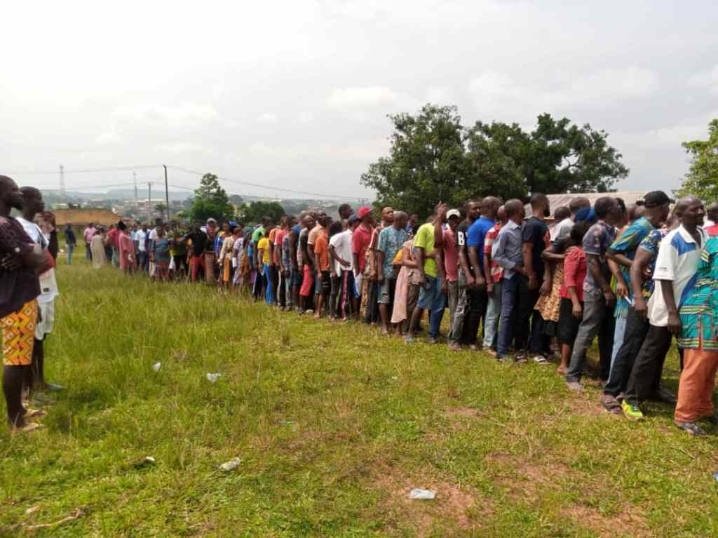 Imo State APC members participate in  the party's ward congress