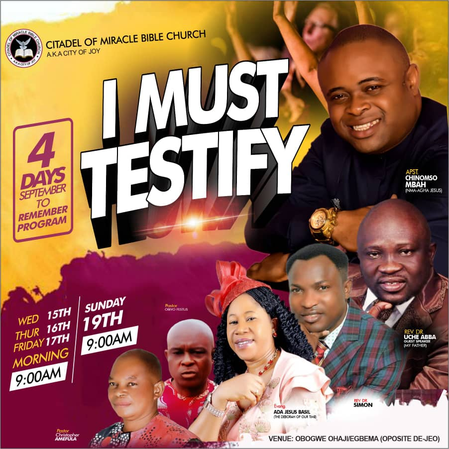 """CITADEL OF MIRACLE BIBLE CHURCH HOLDS A 4-DAYS POWER-PACKED CONFERENCE TAGGED """"SEPTEMBER TO REMEMBER"""""""