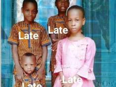 Nigerian Couple Buries 4 Children Who Died After Eating Suya