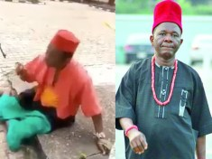More videos emerge of the Nigerian soldiers parading Nollywood veteran actor, Chiwetalu Agu