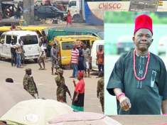 Nollywood Veteran Chiwetalu Agu Humiliated and Arrested By Nigerian Soldiers In Onitsha (VIDEO)