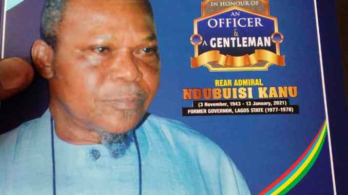Rear Admiral Ndubuisi Godwin Kanu will be laid to rest 15th October 2021 amidst tributes
