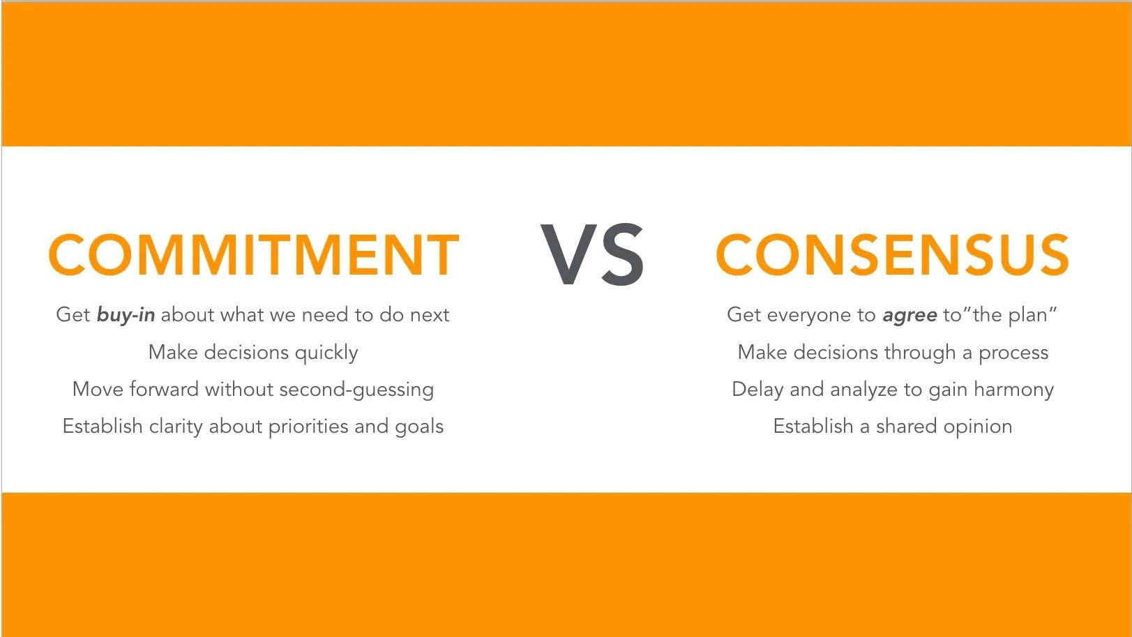 Commitment Vs Consensus