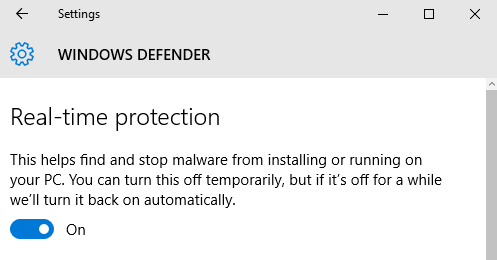Real-time-protection-on