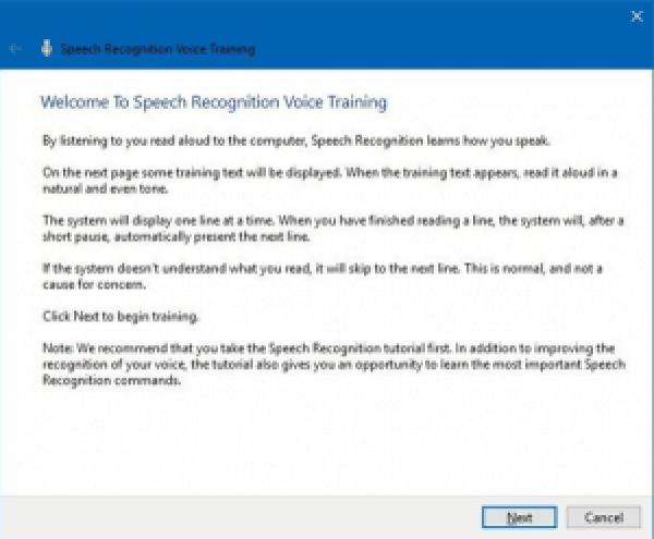 Speech recognition on windows 10