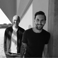 What were Lionel Messi and Zinedine Zidane doing together?
