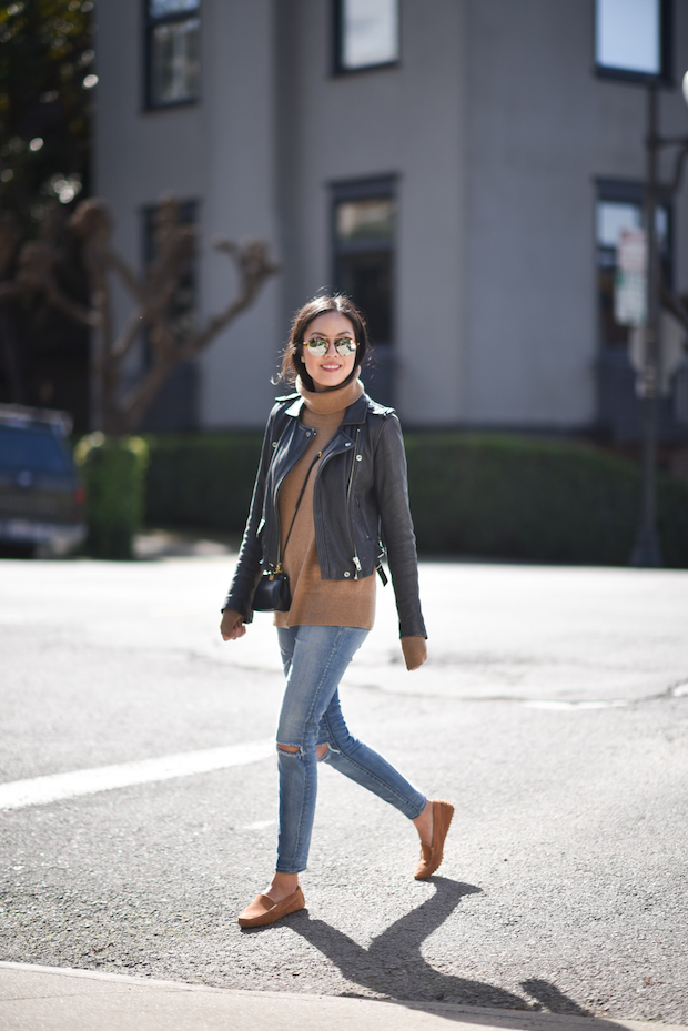 Navy Camel 9to5chic