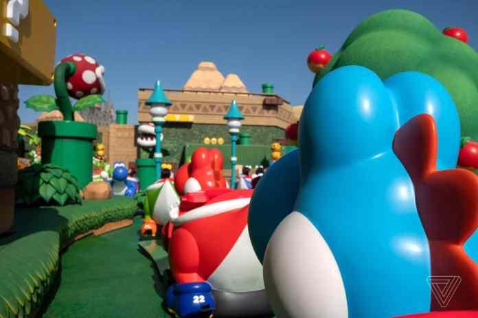 Super Nintendo World theme park USJ mario